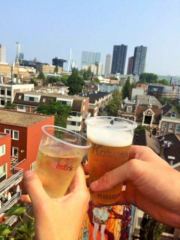 Weekend weg in Rotterdam: wijntje