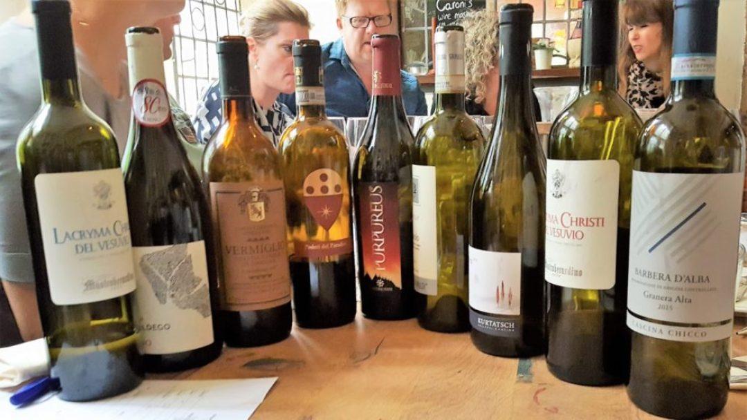 De wijnen van de Italiaanse wijnproeverij in Den Haag