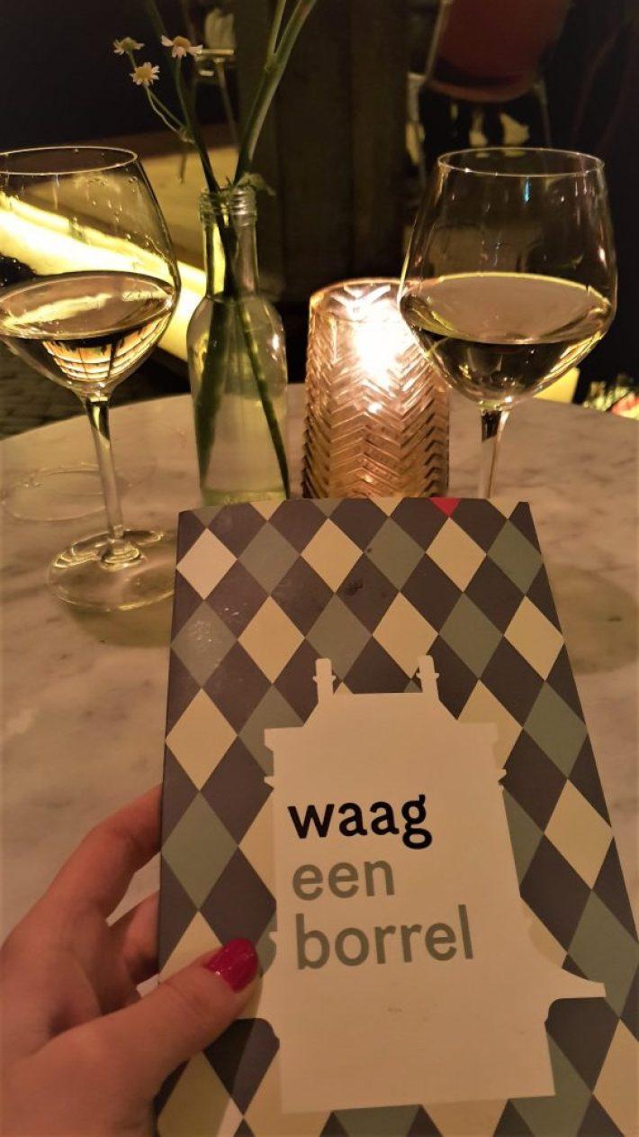 Leuke restaurants in Leiden: de Waag wijnkaart