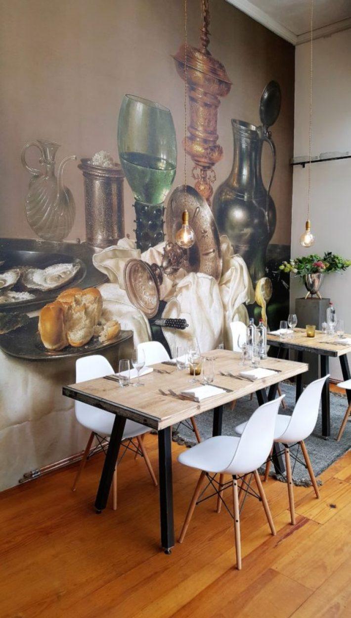 Restaurant wijnbar Vliegendt Hert in Middelburg decoratie