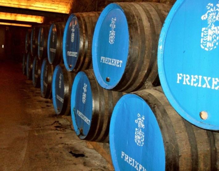 Cava Freixenet wijnvaten