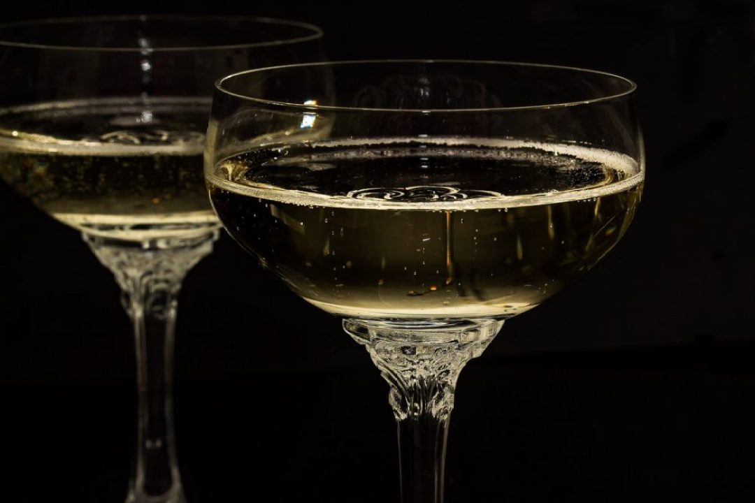 Crémant of champagne glas coupe