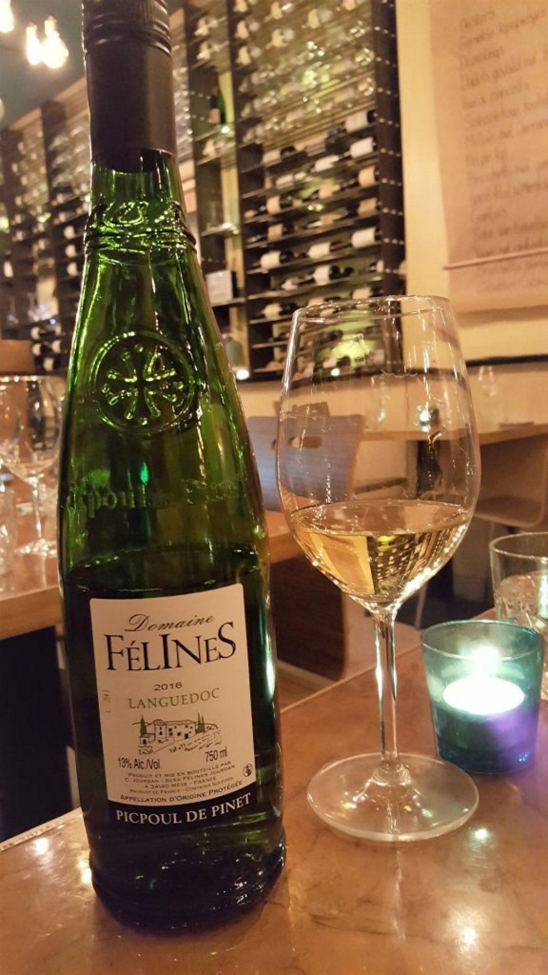 picpoul languedoc bij wijnbar Kurk in Den Haag