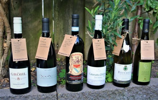 Wijnen van Grapejuice.nl