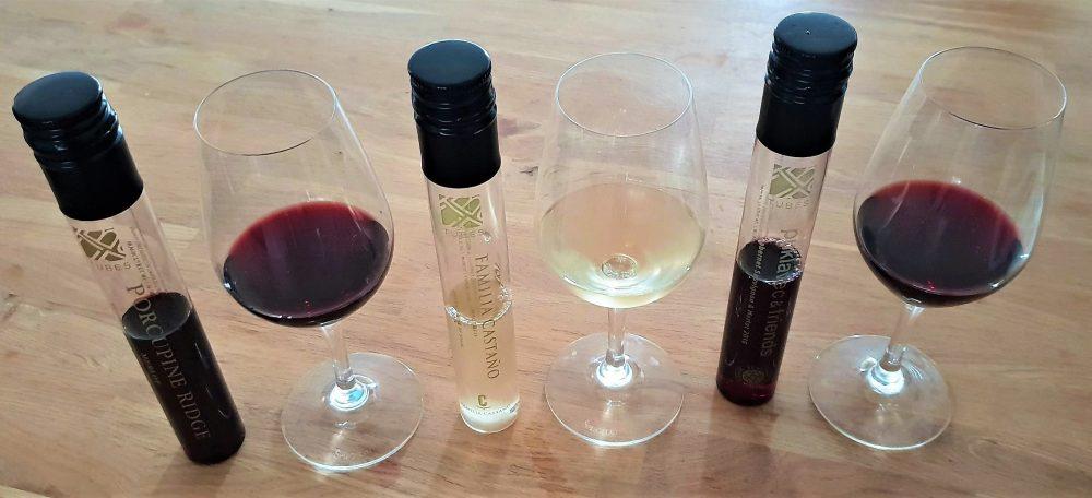 wine in tubes van Albert Heijn