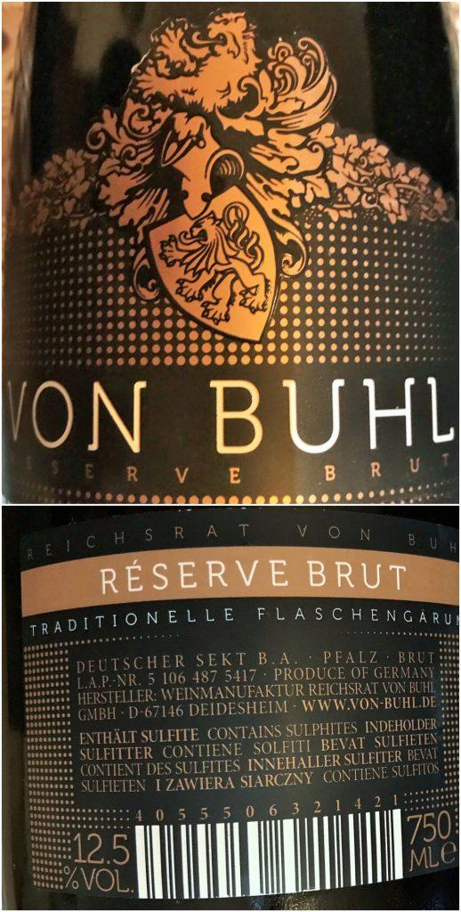 Sekt wijn Von Buhl