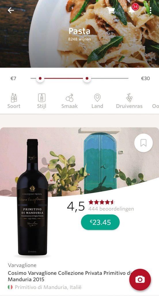 wijn app vivino wijn spijs combinaties