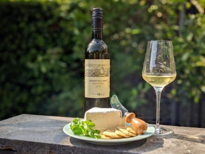 Gruner Veltliner en Delice de Bourgogne kaas