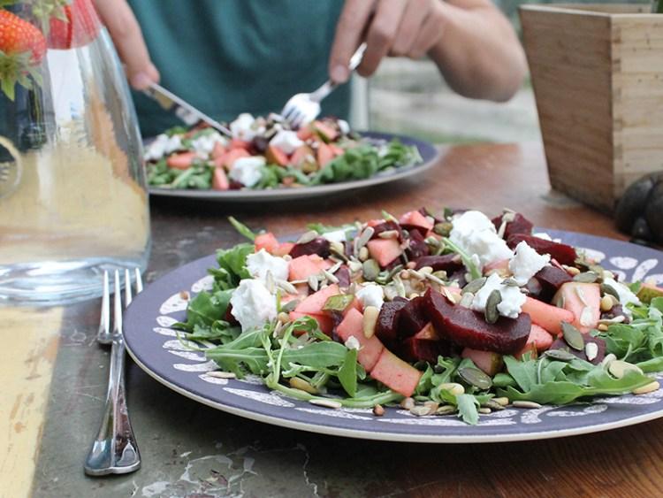 bietjes geitenkaas salade