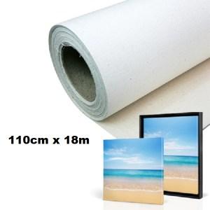 Maliarske plátno na rolke. Farba- biela. Zloženie- 100% bavlna. Gramáž- 380g/m2 Rozmer: 110cm x 18m.