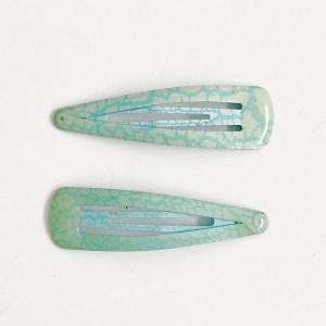 Krásne veľké sponky pukačky do vlasov kovové pre ženy a detíčky, popraskaný vzor, 2ks/pár. Farba- modrá. Rozmer: 6cm.