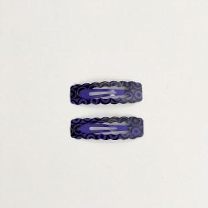 Krásne sponky pukačky do vlasov kovové s kruhmi pre ženy a detíčky, 2ks. Farba- fialová. Rozmer: 4cm.