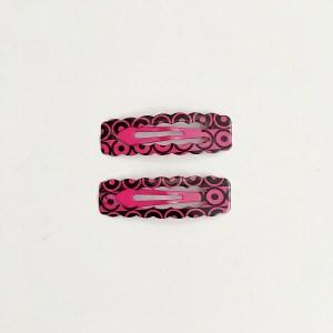 Krásne sponky pukačky do vlasov kovové s kruhmi pre ženy a detíčky, 2ks. Farba- ružová. Rozmer: 4cm.