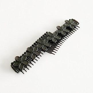 Čelenka do vlasov pružná v tvare kvetu pre ženy a deti. Farba- čierna. Rozmer: 3cm.