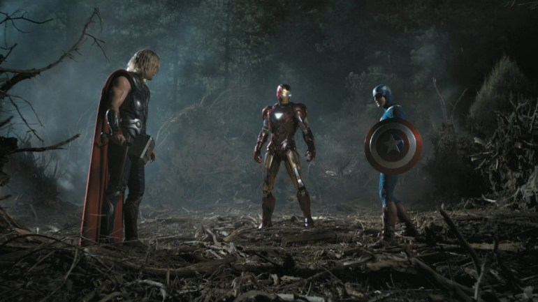 895843-captain-america-chris-evans-chris-hemsworth-iron-man-marvel-comics-screenshots-the-avengers-movie-trailer1 10 years of Marvel's visual effects - Part 1 Articles News