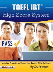 TOEFL iBT High Score System