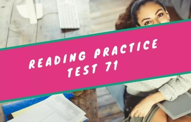 Reading Practice Test 71 from The Collection of TOEFL Reading Comprehension