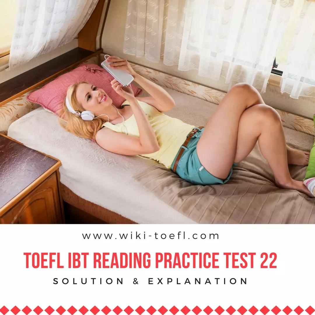 TOEFL IBT Reading Practice Test 22 Solution & Explanation