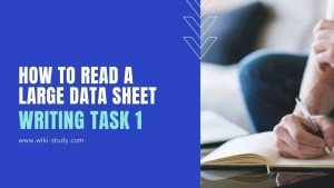 How to read a large data sheet in IELTS Writing Task 1