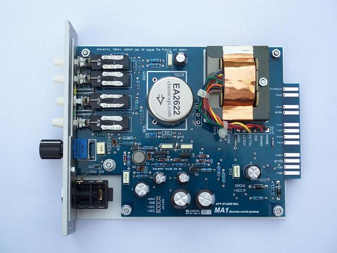 APP Studio Ing  MA1 500-series Preamp Kit - DIYRE Wiki