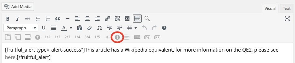 Alert button screenshot