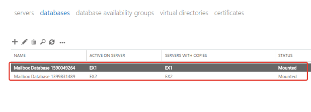 Exchange DAG Databases