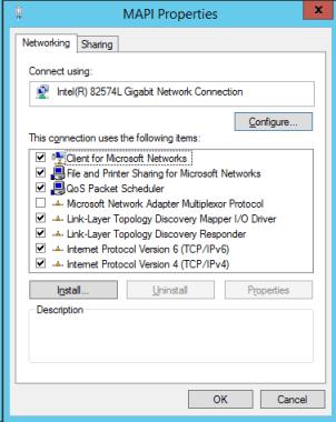 Exchange MAPI Network Adaptor