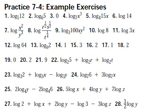Algebra Ii Trig Worksheet Answer Keys