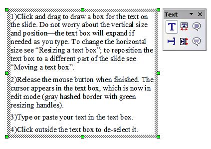 travail avec les zones de texte