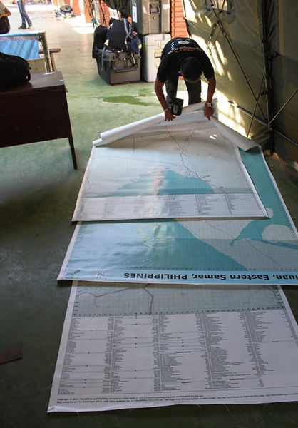 File:Three large poster maps of Tacloban, Guiuan and Ormoc.jpg