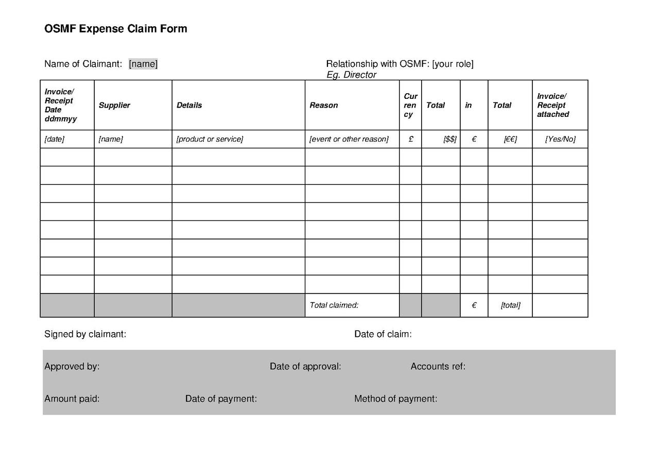 File Osmf Expenses Claim Form V1 1