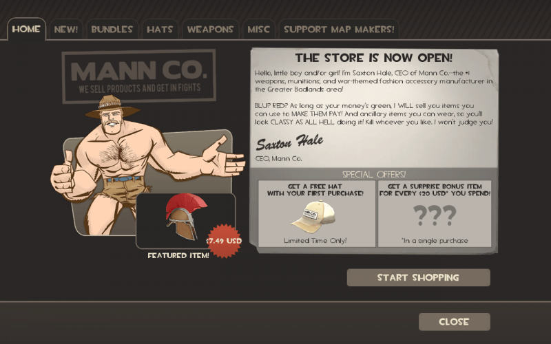Mann Co Store