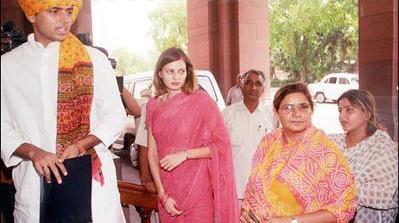Sarah Pilot with Sachin Pilot and family