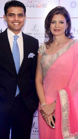 Sarah Pilot with her husband Sachin Pilot