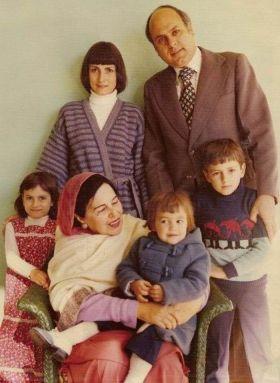 Sarah Pilot's family with her grandmother (sitting