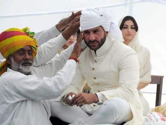 Saif Ali Khan At Pagri Ceremony