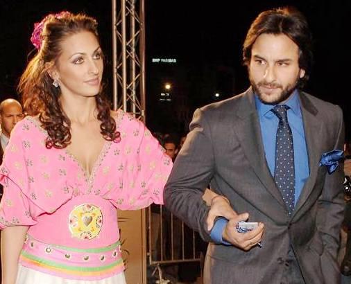 Saif Ali Khan with his Ex girlfriend Rosa Catalano