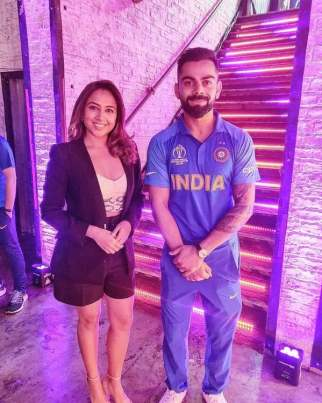 Ridhima Pathak with Virat Kohli