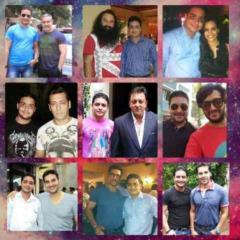 Hindustani Bhau with various celebrities