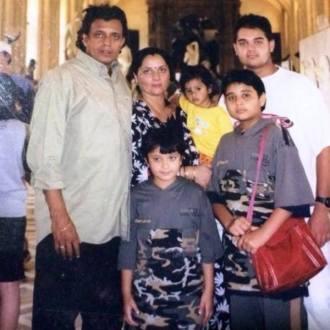 Namashi Chakraborty with His Family