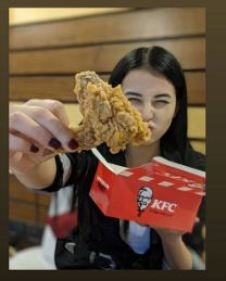 Manila Pradhan having Chicken Wings