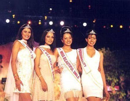 Trisha Krishnan during Miss India 2001