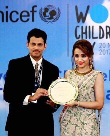 Trisha Krishnan honoured by UNICEF as Celebrity Advocate