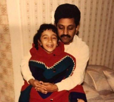 Trisha Krishnan with her Father