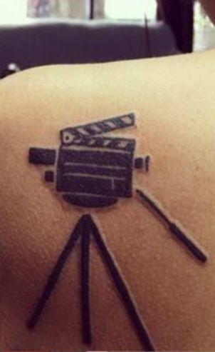Trisha Krishnan's Tattoo- Tripod and Camera