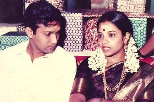 Bhagyalakshmi with her husband