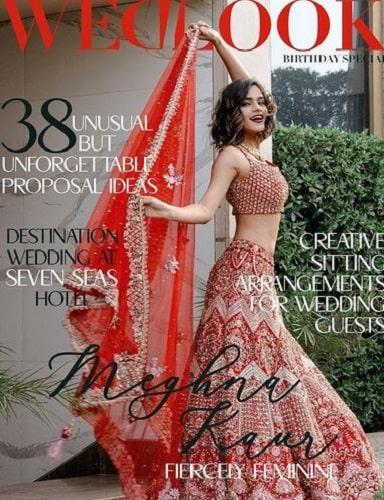 Meghna Kaur featured on a magazine cover