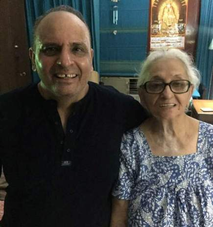 Sanjiv Bhasin with his mother