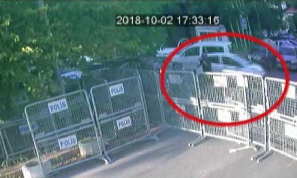 A CCTV footage showing Jamal Khashoggi's fiancee waiting for him outside the Saudi consulate