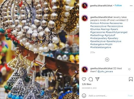 Geetha Bharathi Bhat's Instagram picture
